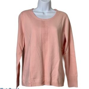 NEW Talbots pink long sleeve sweater
